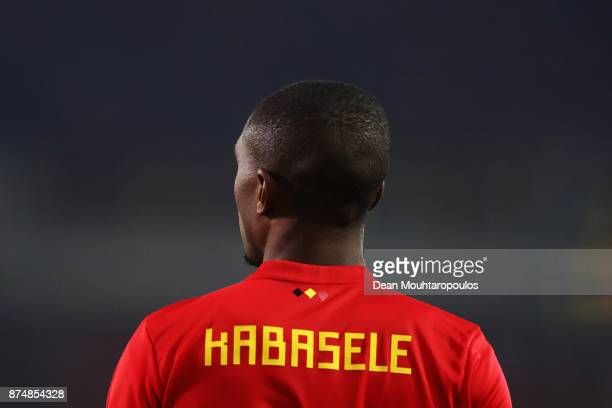 Christian Kabasele of Belgium in action during the international friendly match between Belgium and Japan held at Jan Breydel Stadium on November 14...