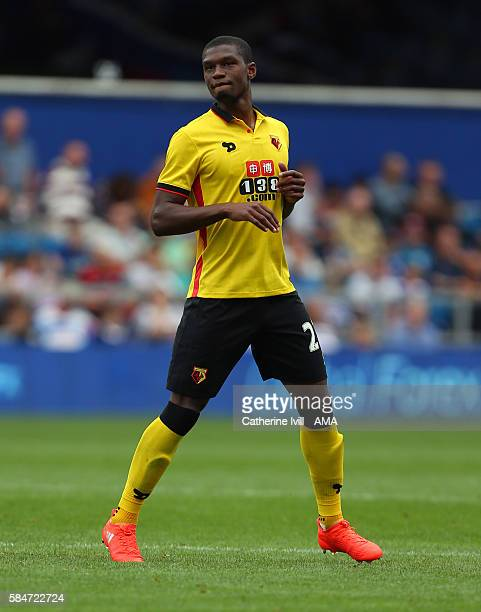Christian Kabasele of Watford during the PreSeason Friendly match between Queens Park Rangers and Watford at Loftus Road on July 30 2016 in London...