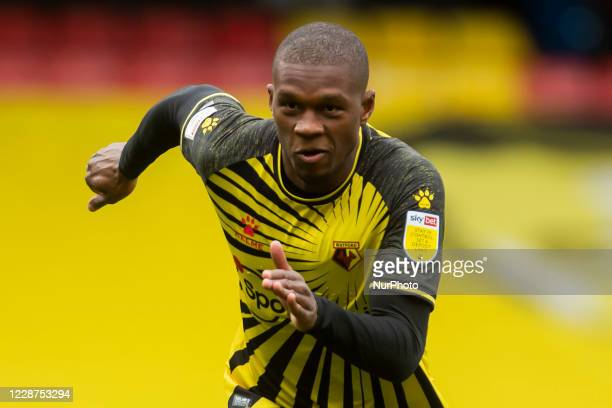 Christian Kabasele of Watford during the Sky Bet Championship match between Watford and Luton Town at Vicarage Road Watford England on September 26...