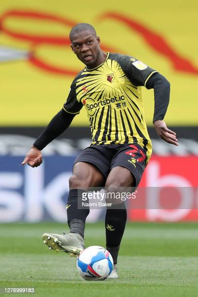 Christian Kabasele of Watford in action during the Sky Bet Championship match between Watford and Luton Town at Vicarage Road on September 26 2020 in...