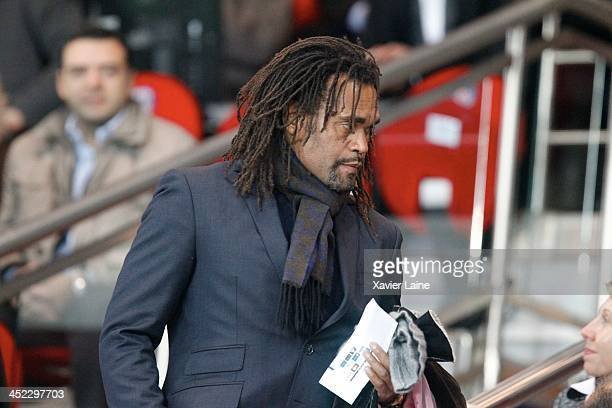 Christian Karembeu attends the UEFA Champions League between Paris SaintGermain FC and Olympiacos FC at Parc Des Princes on November 27 2013 in Paris...