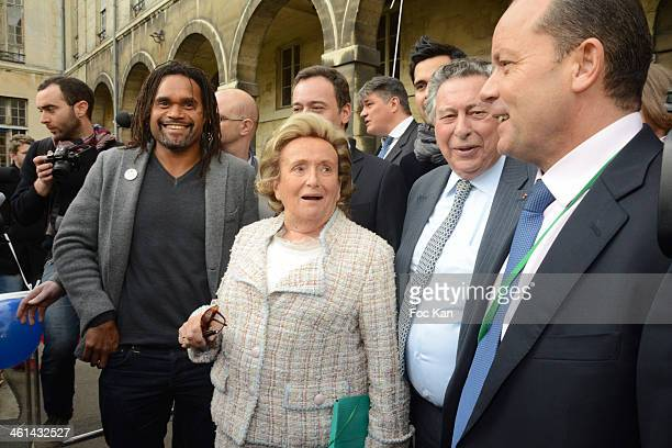 Christian Karembeu Bernadette Chirac Claude Griscelli and guests attend the Launch Of The 25th Edition Of The 'Pieces Jaunes' Charity Campaign's At...