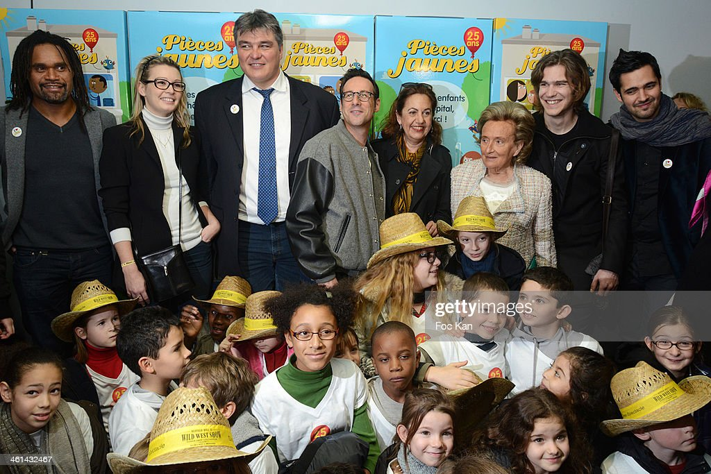 Launch Of The 25th Edition Of The 'Pieces Jaunes' Charity Campaign's At Hopital Universitaire Necker-Enfants Malades