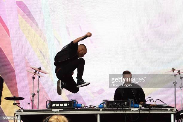 Christian Karlsson and Linus Eklow of Galantis attend Day 1 of BBC Radio 1's Big Weekend 2017 at Burton Constable Hall on May 27 2017 in Hull United...