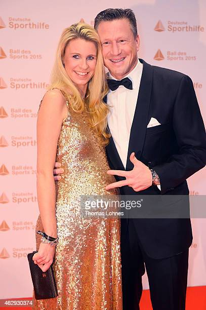 Christian Keller and his wife Annika attend the German Sports Gala 'Ball des Sports' on February 7 2015 in Wiesbaden Germany
