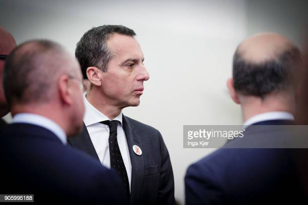 Christian Kern former chancellor of Austria in the course of the PES party congress on December 01 2017 in Lisbon Portugal