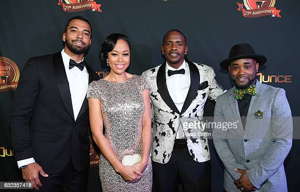 Christian Keyes Dawn Halfkenny Keith Robinson and Tray Chaney attend 25th Annual Trumpet Awards at Cobb Energy Performing Arts Center on January 21...