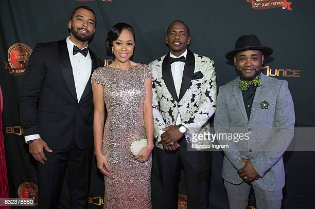 Christian Keyes Dawn Halfkenny Keith Robinson and Tray Chaney attend the 25th Annual Trumpet Awards at Cobb Energy Performing Arts Center on January...