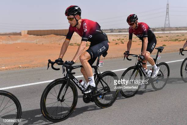 Christian Knees of Germany and Team INEOS / Chris Froome of The United Kingdom and Team INEOS / during the 6th UAE Tour 2020 Stage 5 a 162km stage...