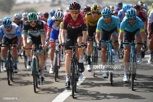 Christian Knees of Germany and Team INEOS / Gorka Izagirre Insausti of Spain and Astana Pro Team / Peloton / during the 6th UAE Tour 2020 Stage 5 a...