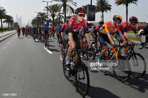 Christian Knees of Germany and Team INEOS / Wout Poels of The Netherlands and Team Bahrain McLaren / Chris Froome of The United Kingdom and Team...