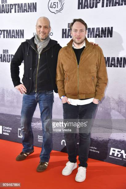 Christian Koerner and Martin Stange attend the premiere of 'Der Hauptmann' at Kino International on March 8 2018 in Berlin Germany