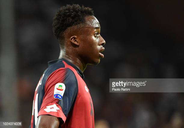Christian Kouame of Genoa during the serie A match between Genoa CFC and Empoli at Stadio Luigi Ferraris on August 26 2018 in Genoa Italy