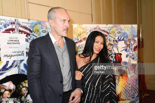 "Christian Kretschmar and Anggun attend ""Gala D'Enfance Majuscule 2017"" Charity Gala At Salle Gaveau on March 20, 2017 in Paris, France."