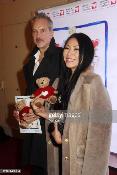 Christian Kretschmar and Anggun attend the Soiree du Cœur Auction Concert Hosted by Mécenat Chirurgie Cardiaque at Salle Gaveau on January 27, 2020...
