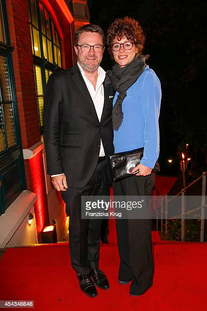 Christian Krug and his wife Ina Krug attend the 'Nacht der Medien' on August 29 2014 in Hamburg Germany