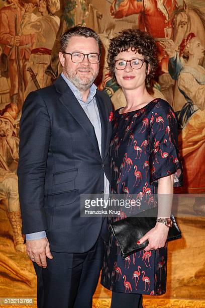 Christian Krug and Ina Krug attend the Soiree Hotel Vier Jahreszeiten on March 01 2016 in Hamburg Germany