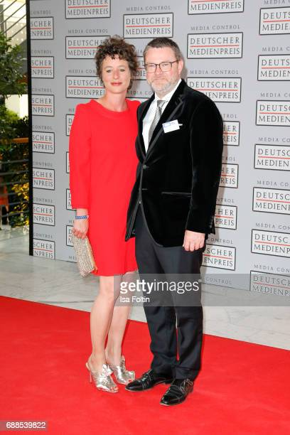 Christian Krug chief editor of Stern magazine and his wife Ina Krug during the German Media Award 2016 at Kongresshaus on May 25 2017 in BadenBaden...