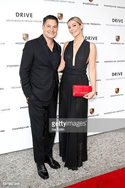 Christian Kurtzke and model Annika Gassner attend the 5th Nachtschicht Berlin Design Night on June 3 2016 in Berlin Germany