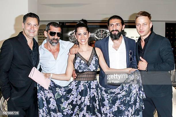 Christian Kurtzke german actor Erdal Yildiz shirt watch and sunglases by Porsche Design german actress Rabeah Rahimi german actor Numan Acar suit...
