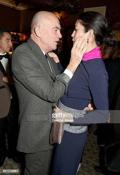 Christian Lacroix and Caroline Issa attend the Roksanda Ten Year Anniversary Dinner at Caviar Kaspia on October 2 2015 in Paris France