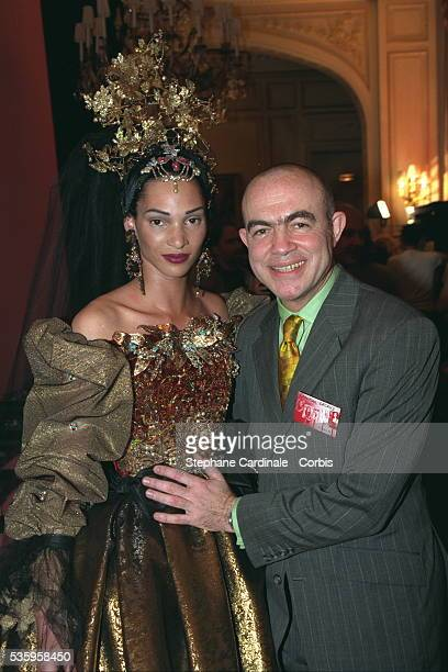 Christian Lacroix and his bride