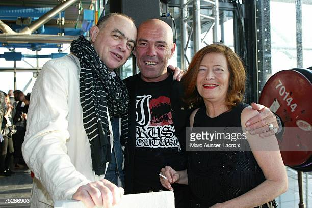 Christian Lacroix Corti and Viviane Blassel relaxes at the Party to celebrate the launch of his collection on July 3 in Paris France