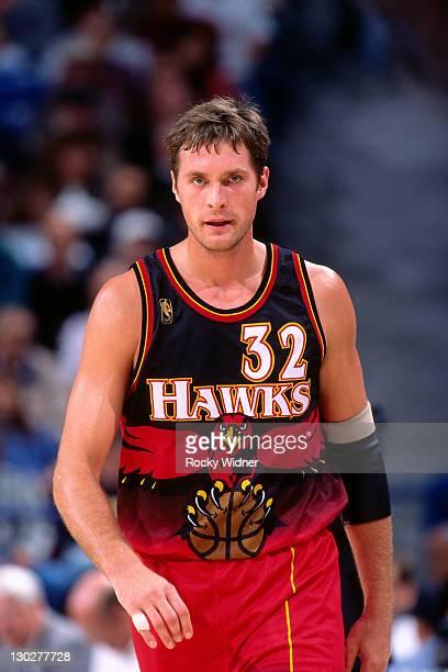 Christian Laettner of the Atlanta Hawks walks against the Sacramento Kings on November 7 1996 at Arco Arena in Sacramento California NOTE TO USER...