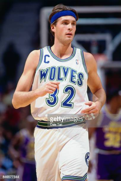 Christian Laettner of the Minnesota Timberwolves runs circa 1994 at the Target Center in Minneapolis Minnesota NOTE TO USER User expressly...
