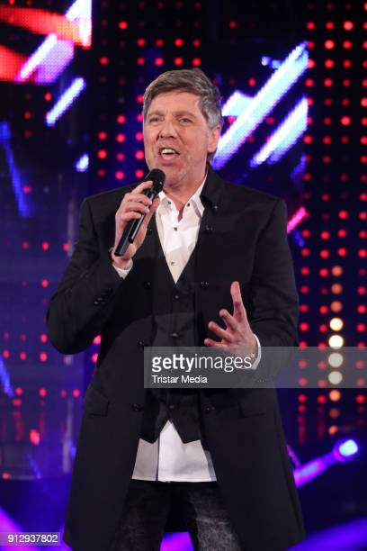 Christian Lais during the TV Show 'Meine Schlagerwelt Die Party' hosted by Ross Antony on January 31 2018 in Leipzig Germany