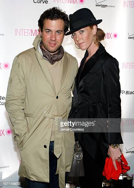 Christian LaLiberte and Annabelle Dartanian attend Intermix's 15th anniversary party hosted by BlackBerry Pink Curve at the Bowery Hotel on September...