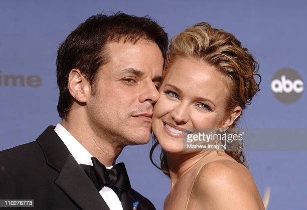 Christian LeBlanc and Sharon Case presenters during 33rd Annual Daytime Emmy Awards Press Room at Kodak Theater in Hollywood California United States