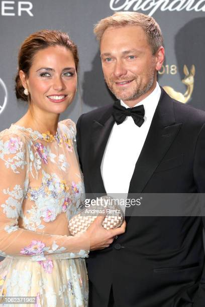 Christian Lindner and Franca Lehfeldt attend the 70th Bambi Awards at Stage Theater on November 16 2018 in Berlin Germany