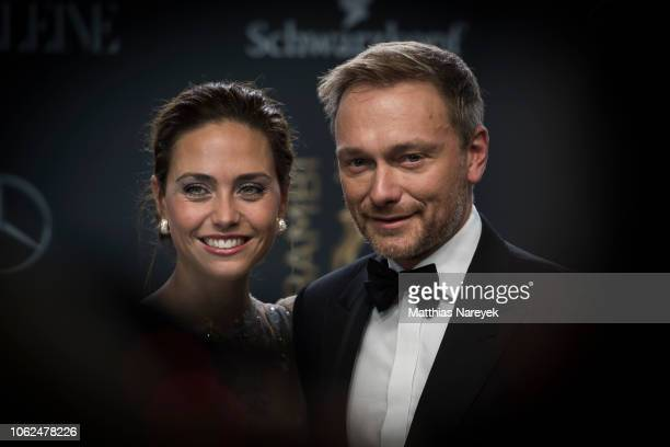 Christian Lindner and Franca Lehfeldt during the 70th Bambi Awards at Stage Theater on November 16, 2018 in Berlin, Germany.