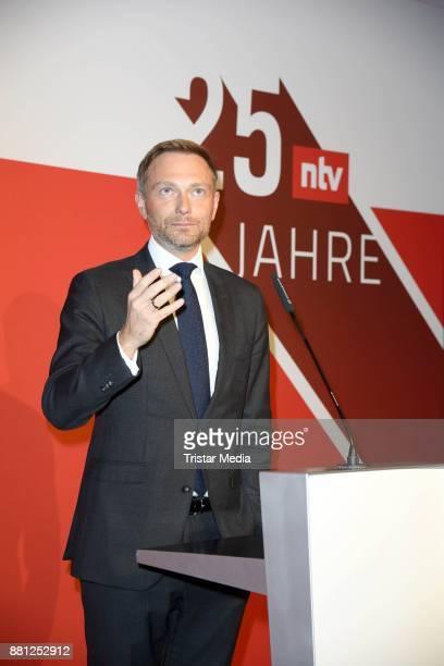 Christian Lindner attends the 25 years anniversary ntv event at Bertelsmann Repraesentanz on November 28 2017 in Berlin Germany