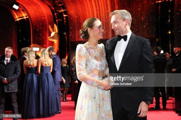 Christian Lindner FDP and his girlfriend Franca Lehfeldt during the Bambi Awards 2018 Arrivals at Stage Theater on November 16 2018 in Berlin Germany