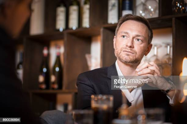 Christian Lindner Federal Chairman of the Free Democratic Party is pictured during an interview on December 06 2017 in Berlin Germany