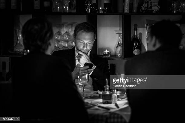 Image has been converted to black and white BERLIN GERMANY DECEMBER 06 Christian Lindner Federal Chairman of the Free Democratic Party is pictured...