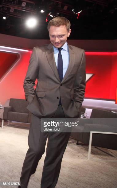 Christian Lindner in der ARDTalkshow maischberger am in Berlin Eurokrise Flüchtlingsstreit Wieder Ärger mit Griechenland