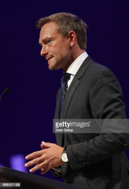 Christian Lindner lead candidate of the German Free Democrats political party and FDP lead candidate in German federal elections scheduled for...