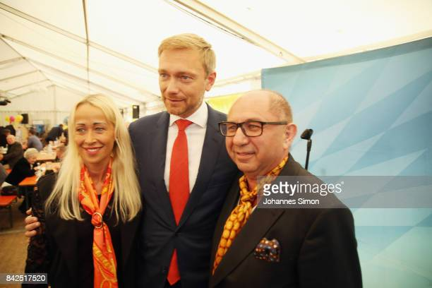 Christian Lindner of the poses with fans at the Gillamoos amusement fair on September 4 2017 in Abensberg Germany Politicians among them elections...