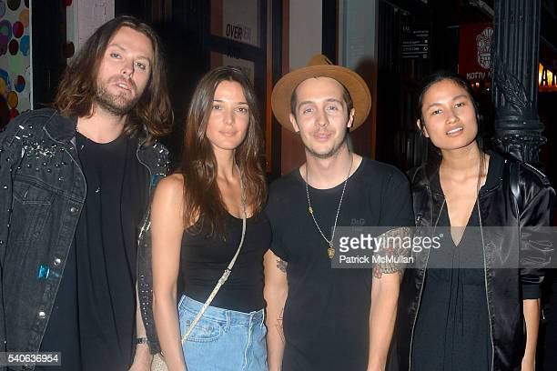Christian Lonas Angela Bellotte Michal Kusidl and Varsha Thapa attend the Lower East Studios Summer Party at The Lucky Bee Hosted by Steve Caputo...