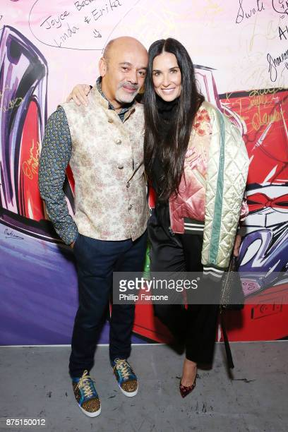 Christian Louboutin and Demi Moore attend Christian Louboutin and Sabyasachi Unveil Capsule Collection at Just One Eye on November 16 2017 in Los...