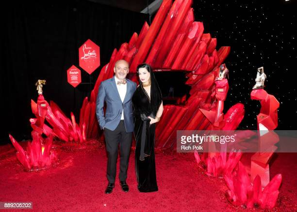 Christian Louboutin and Dita Von Teese at Star Wars The Last Jedi Premiere at The Shrine Auditorium on December 9 2017 in Los Angeles California