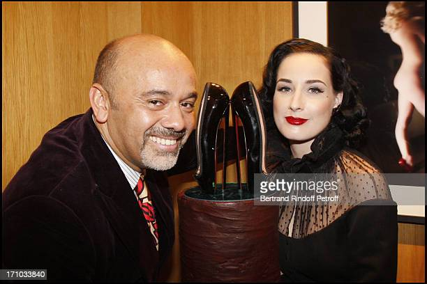 Christian Louboutin and Dita Von Teese Exhibition launch of Fetish photographs at the Art gallery Du Passage