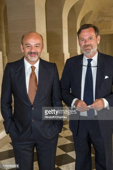 christian louboutin and louis benech attend the private visit of the news photo getty images. Black Bedroom Furniture Sets. Home Design Ideas