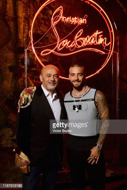 Christian Louboutin and Maluma attend the Loubicircus Party by Christian Louboutin at Musee des Arts Forains as part of Paris Fashion Week on June 19...