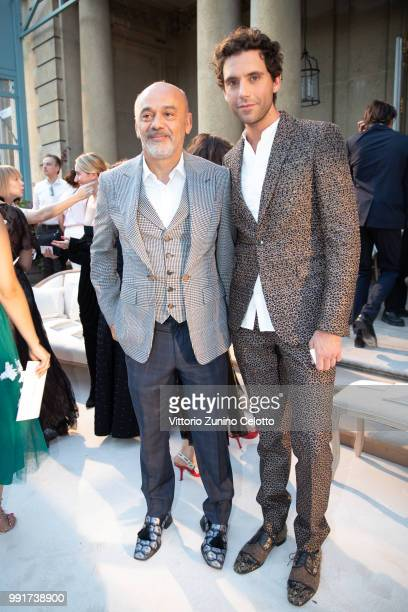 Christian Louboutin and Mika attend the Valentino Haute Couture Fall Winter 2018/2019 show as part of Paris Fashion Week on July 4 2018 in Paris...