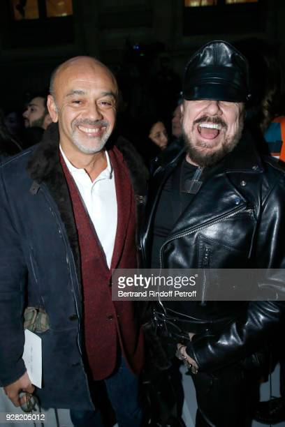 Christian Louboutin and Peter Marino attend the Louis Vuitton show as part of the Paris Fashion Week Womenswear Fall/Winter 2018/2019 on March 6 2018...