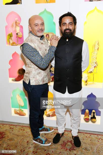 Christian Louboutin and Sabyasachi attend Christian Louboutin and Sabyasachi Unveil Capsule Collection at Just One Eye on November 16 2017 in Los...
